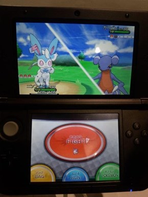 Shiny Sylveon (Pokémon X&Y Demo Version)!