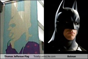 Thomas Jefferson Flag Totally Looks Like Batman