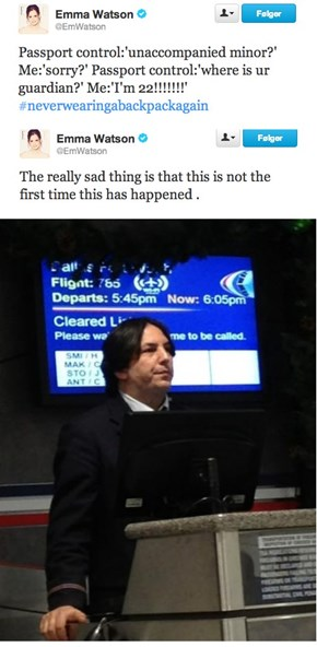 After 8 Movies, Snape is Still Giving Her a Hard Time