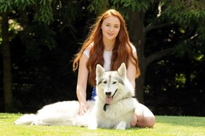 Did You Know Sansa Adopted Lady in Real Life?