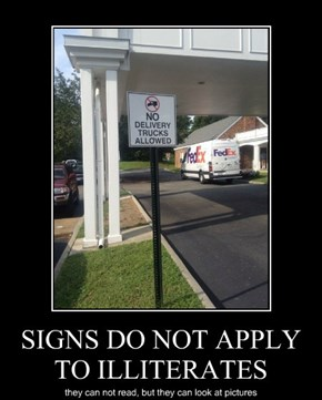 SIGNS DO NOT APPLY TO ILLITERATES