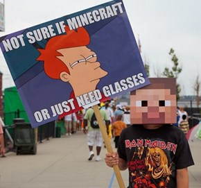 Not Sure if Best Cosplay or Best Sign