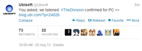 The Division is Confirmed for PC