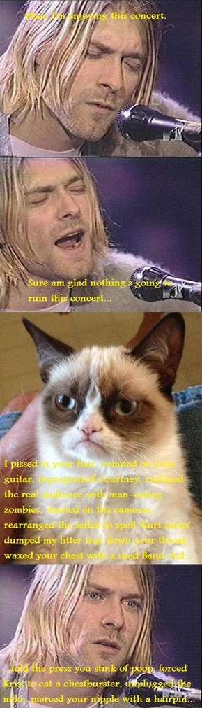 Grumpy Cat meets Grumpy Kurt
