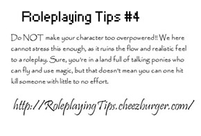 Roleplaying Tips #4