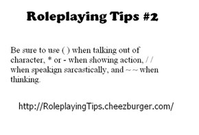 Roleplaying Tips #2