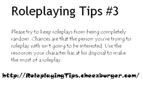 Roleplaying Tips #3