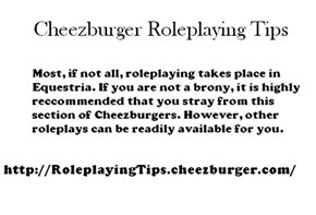 Roleplaying Tip #1