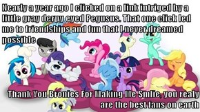 Thank you Bronies