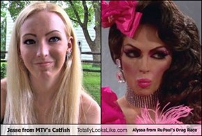 Jesse from MTV's Catfish Totally Looks Like Alyssa from RuPaul's Drag Race