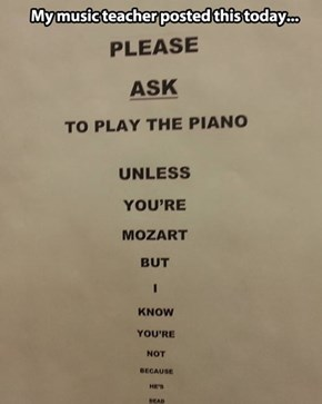 Zombie Mozart Is Not Amused