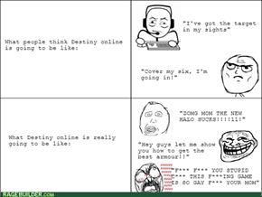 The reality of Destiny online