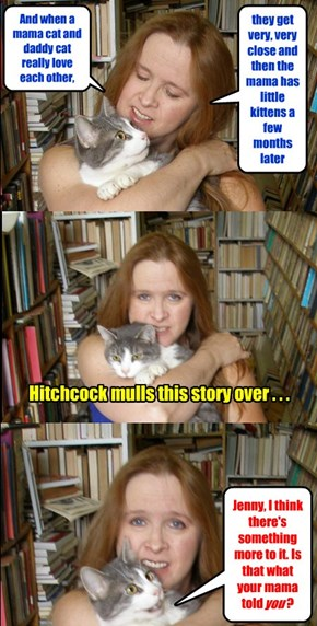 JennyBookseller tells Hitchcock the facts of life