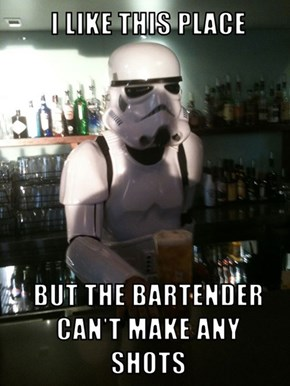 He Works at the Death Bar