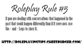 Roleplaying Tips #5