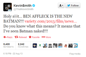 Kevin Smith Has Had a Rare Privilege