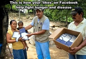 Only Your Facebook Likes Can Stop World Hunger