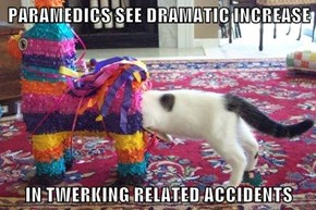 PARAMEDICS SEE DRAMATIC INCREASE  IN TWERKING RELATED ACCIDENTS