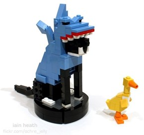 Art Imitates Life of the Day: Watch this Lego Replica of Roomba Shark-Cat