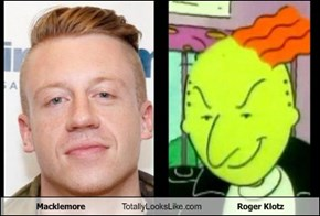 Macklemore Totally Looks Like Roger Klotz
