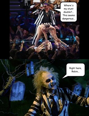 Robin Thicke Knows Beetlejuice?