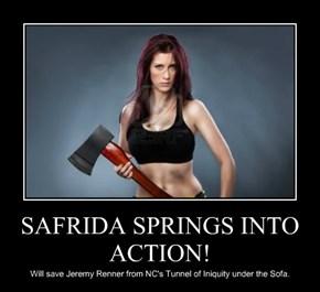 SAFRIDA SPRINGS INTO ACTION!