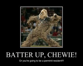 BATTER UP, CHEWIE!