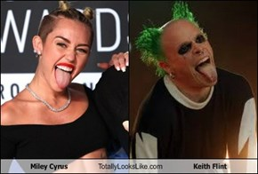 Miley Cyrus Totally Looks Like Keith Flint