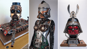 Star Wars Sculptures Made From Junk