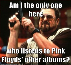 Am I the only one here  who listens to Pink Floyds' other albums?