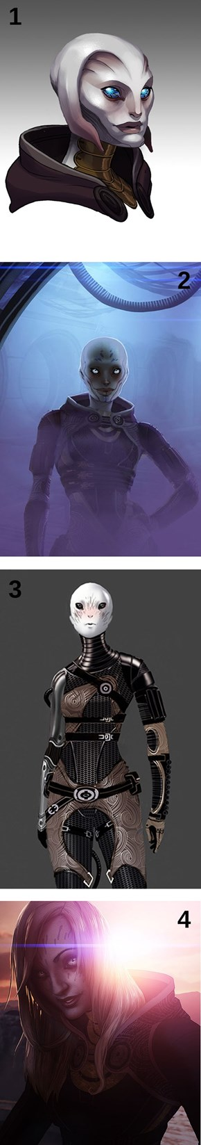 Tali's faces (Concept)