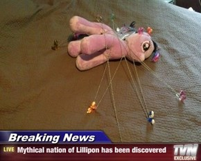 Breaking News - Mythical nation of Lillipon has been discovered