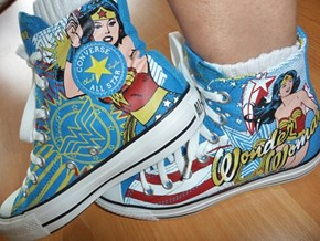 Wonder Woman Converse High Tops