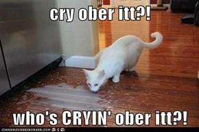 cry ober itt?!  who's CRYIN' ober itt?!