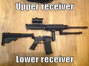 Upper receiver  Lower receiver