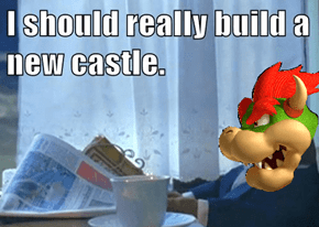So That's Why He Gets a New Castle Every Game...
