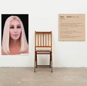 Sit and Share Cher's Chair While You Stare at Cher