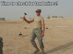 Time to check for land mines!