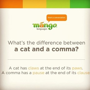 Commas and cats
