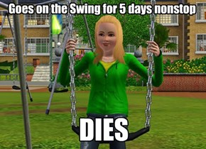 Suicidal Susie: Saw her in the park 5 days, now there's a gravestone next to the swing with her name on