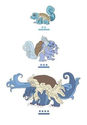 Mayan God: Squirtle / Wartortle / Blastoise