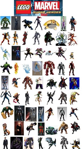 LEGO Marvel Playable Characters