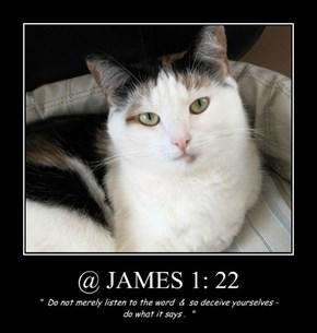 @ JAMES 1: 22