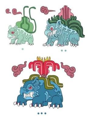 Mayan God: Bulbasaur / Ivysaur / Venusaur