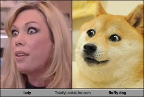 lady Totally Looks Like fluffy dog