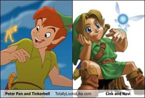 Peter Pan and Tinkerbell Totally Looks Like Link and Navi