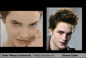 'Nude' Makeup Commercial Totally Looks Like Edward Cullen