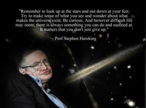 Trust Stephen Hawking