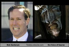 Rick Santorum Totally Looks Like the Voice of Sauron