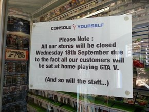 The game stores will be a lonely place to be on the 18th September.